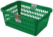 New Wham Green Set of 2 Large Plastic Handy Fruit Vegetable Basket Kitchen Office Storage