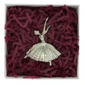 Fine Pewter Ballerina Brooch, Handcast By William Sturt