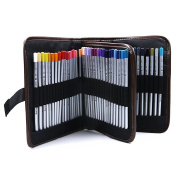JOJOO 72-colour Raffine Marco Soft Core Art Coloured Pencils/ Drawing Pencils for Art Sketching/ Adult Secret Garden Colouring Book/ Manga Artbook (not included) with Pencil Wrap Case - 72 Colour, MK029