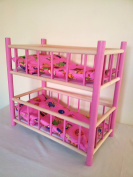 NEW WOODEN BUNK BED,COT,CRIB DOLLS TOY
