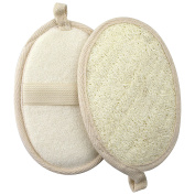 GWHOLE Exfoliating Loofah Pads Natural Loofah Sponge for Shower, 2 Pack