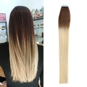 TheFashionWay 16-60cm 100% Real Human Hair Extensions Tape in Silky Straight Weft Remy Virgin Hair Various Colours For Choosing