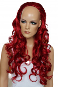 PRETTYSHOP Half Wig Wavy Heat Resistant Synthetic Fibre Like Real Hair approx. 65 cm Various Colours