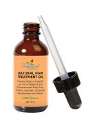 100% Natural Hair Growth Treatment Oil 60ml - Premium Organic Essential Oil Blend with Argan, Emu, Jojoba, Peppermint, Cinnamon, Ginger, Rosemary for Dry, Damaged, Thinning, Hair Loss