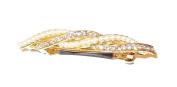 Crystal and Cream Beads Gold Tone Barrett