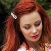 Crystal Hair Clip Diamante Hairclip Leaf Barrette Wedding Hair Clip Rhinestone Hair Accessory Bridesmaid Hair Grip Hair Jewellery