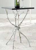 Safavieh Home Collection Alexa Black and Silver Alexa Accent Table