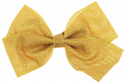 Capelli New York Girls Ribbon Bow with Salon Clip Gold One Size