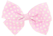 Capelli New YorkGirls Polka Dot Print Bow Clip Pink One Size