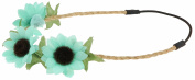 Capelli New York Girls Sunflower Headwrap Mint One Size
