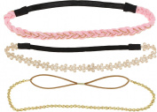 Capelli New York Girls Multi Pack Headwrap Set Pink Combo One Size