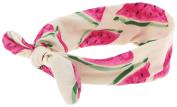 Capelli New York Girls Watermelon Print Headwrap Ivory Combo One Size