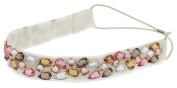 Capelli New York Girls Gem Top Headwrap Natural Combo One Size
