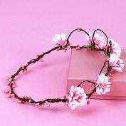 Merroyal Beach Flower Crown Garland for Wedding Hair Wreath