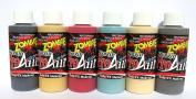 Face Painting Makeup - ProAiir Waterproof Makeup - Second Set of 6 Ghoulish Zombie Colours - 2.1 oz