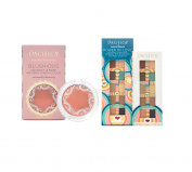 Pacifica Blushious Coconut & Rose Infused Cheek Colour – Camellia & Power of Love Eye Shadow Palette (10 Coconut-Infused Mineral Eye Shadow Colours) Bundle with Ginseng and Coconut Oil