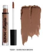 SEOWTOYS Factory Sealed NYX Lip Lingerie Liquid Matte Lipstick Shade Teddy Warm Rich Brown