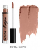 SEOWTOYS Factory Sealed NYX Lip Lingerie Liquid Matte Lipstick Shade Baby Doll Nude Pink
