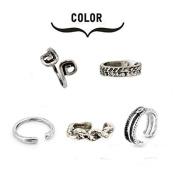 5PC Fireboomoon Women Fashion Simple Retro Toe Ring Adjustable Foot Beach Jewellery