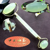 Leosense Jade Rollers Anti Ageing Face Neck Massage Beauty Tools,100% Natural Genuine Jade Stone For Facial Skin Care Rejuvenation and Healing Slimming Massage Therapy.