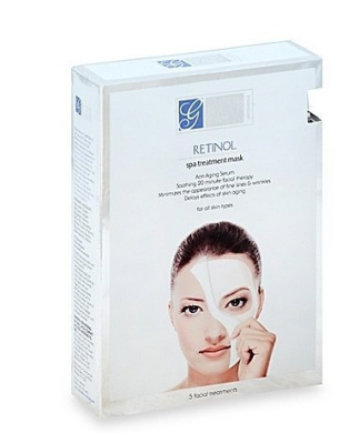 Global Beauty Care 5-Count Retinol Spa Treatment Mask(pack of 2)