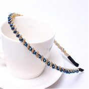 Casualfashion Fantastic Bling Rhinestone Hair Hoop Band Crystal Beaded Headband for Women Girls