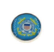 "Best Wing Jewellery ""United States Coast Guard"" Floating Charm for Living Memory Glass Lockets"