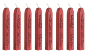 Ocharzy 8Pcs Multi-Colour Manuscript Sealing Seal Wax Sticks with Wick for Envelope Letter