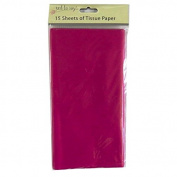 Coloured Large Tissue Paper - Magenta - 15 Sheets, 8.1m x 6m