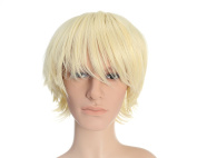 OneDor® 30cm Short Straight Men Hair Wig Coloured Cosplay Wig Heat Friendly Party Costume Unisex Wig