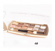 Fullkang New 12 Colours Women Pro Eyeshadow Shimmer Palette & Cosmetic Brush Makeup Set