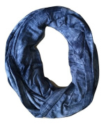 Infinity Nursing Scarf – Privacy Cover Up for Breastfeeding Baby – Dark Blue Tie Dye Pattern