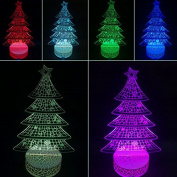 3D Night Lamp Christmas Tree