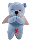 Linzy Prayer Angel Bear Soft Teddy Plush - Recites Padre Nuestro Prayer in Spanish - Blue 22cm