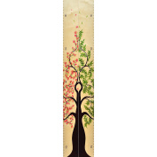 Growth Chart Art | Tree of Life Wood Height Chart Pair | Baby Shower Gift | Measure Siblings, Twins or Grand Kids | FB & NB
