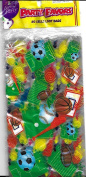Party favours 3 Cello Loot Bags Athletics (Football, Basketball, Soccer, Baseball) 25cm