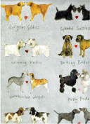 Alex Clark Delightful Dogs Rolled Gift Wrap Paper 2 Sheets 50cm x 70cm