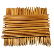 Celine lin 11 sizes(55picks) 5.2inch''(13CM)Carbonised Double Pointed Bamboo Knitting Needle US 0-8
