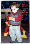 Ethan - Black Purl Knitting Pattern #K7 Vest and Sock Set to Knit for Babies & Toddlers