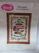 WonderArt Stitchery 30cm x 41cm Sampler ; Give Us Our Daily Bread #5069