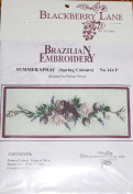 Summer Spray, Pink - Blackberry Lane Brazilian Embroidery pattern #144P