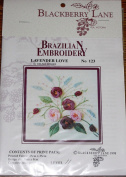 Lavender Love - Blackberry Lane Brazilian Embroidery pattern #123