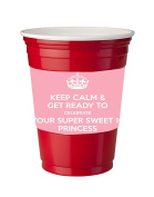 4 Pack of Vinyl Decal Stickers for Disposable Cups / Sweet 16 Princess