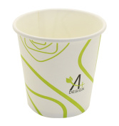 Paper Hot Cup,Special Green Lines Design, Eco-friendly,100% Blodegradable & Compostable, 50 count.