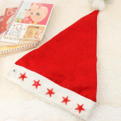 TOPUNDER Kids Santa Claus Red Cap Flashing Star Light Christmas Caps Xmas Party Hats