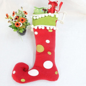 TOPUNDER Christmas Boots Tree Hanging Decor Santa Claus Festival Party Ornaments