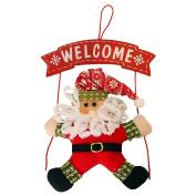 TOPUNDER Christmas Wreath Christmas Snowman Party Door Decoration Christmas door hanging