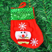 TOPUNDER Christmas Stockings Socks Santa Claus Candy Gift Bag Xmas Hanging Decor