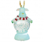 Reindeer Merry Christmas Character LED Light-up 23cm x 13cm Acrylic Snow Globe