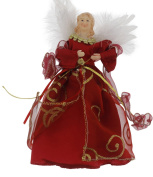 Christmas Holiday Elegant Angel Tree Topper - Assorted, Red or Gold, 23cm x 14cm